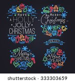 christmas decorative elements... | Shutterstock .eps vector #333303659