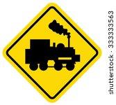 train vector sign | Shutterstock .eps vector #333333563