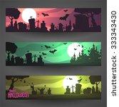 set of customizable halloween...   Shutterstock .eps vector #333343430
