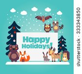 Holiday Lovely Vector Card Wit...
