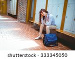 mature student feeling stressed ... | Shutterstock . vector #333345050