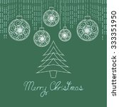 christmas greeting card with... | Shutterstock .eps vector #333351950