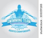 premium logo swimmer swimming... | Shutterstock .eps vector #333359183