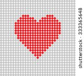 heart red on grey vector... | Shutterstock .eps vector #333365648