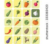 vegetable icon set | Shutterstock .eps vector #333383420