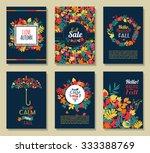 fall set. leaves composition... | Shutterstock .eps vector #333388769