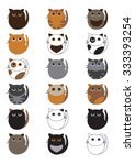 cat family collection  | Shutterstock .eps vector #333393254