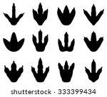 footprint of dinosaur  vector | Shutterstock .eps vector #333399434