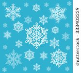 snow flakes | Shutterstock .eps vector #333403229