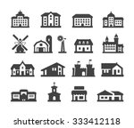 house icons set. collection...