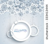 snowy holiday frame. christmas...   Shutterstock .eps vector #333413444
