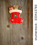 christmas ornament on wood... | Shutterstock . vector #333413783