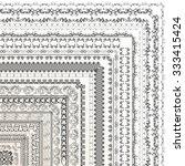 set of vector decorative... | Shutterstock .eps vector #333415424