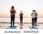 yoga class   group of people... | Shutterstock . vector #333429320