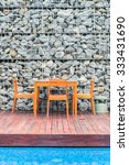 wooden dining table and chair... | Shutterstock . vector #333431690