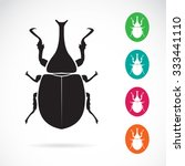 vector image of stag beetle on... | Shutterstock .eps vector #333441110
