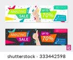 vector promotion banner amazing ... | Shutterstock .eps vector #333442598