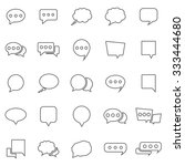 speech bubble line icons on... | Shutterstock .eps vector #333444680