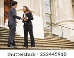 professional woman and man... | Shutterstock . vector #333445910