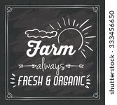 farm food concept over rustic... | Shutterstock .eps vector #333456650