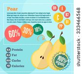 infographics pear and vitamins... | Shutterstock .eps vector #333466568