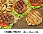outdoor lunch with homemade bbq ... | Shutterstock . vector #333469256