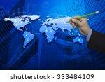 businessman hand holding a... | Shutterstock . vector #333484109