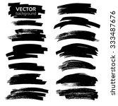 abstract black textured strokes ... | Shutterstock .eps vector #333487676