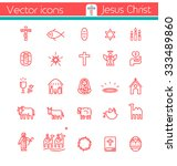 Jesus Christ Vector Icons