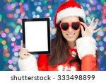 Happy Christmas Girl With Hear...
