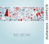 merry christmas. blue christmas ... | Shutterstock .eps vector #333499178