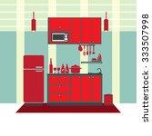 kitchen interior concept ...   Shutterstock .eps vector #333507998