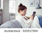 happy young woman enjoying an e ... | Shutterstock . vector #333517304