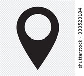 gps location map pointer icon | Shutterstock .eps vector #333523184