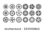 icon car wheel silhouette | Shutterstock . vector #333540863