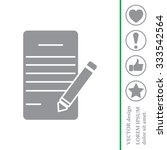 icon of notes  sheet and pen  | Shutterstock .eps vector #333542564