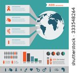 hiv and aids infographics.... | Shutterstock .eps vector #333548264