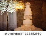 Big White Wedding Cake With...
