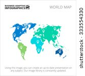 editable template of world map... | Shutterstock .eps vector #333554330