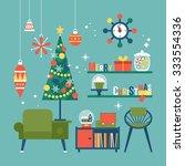 modern creative christmas... | Shutterstock .eps vector #333554336