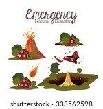 natural disaster design  vector ... | Shutterstock .eps vector #333562598