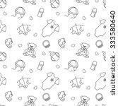seamless monochrome pattern... | Shutterstock .eps vector #333580640