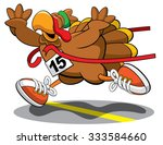 turkey trot 2015 | Shutterstock .eps vector #333584660
