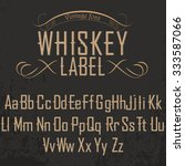 whiskey label font with dusty... | Shutterstock .eps vector #333587066