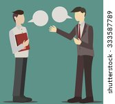 two business man's conversation | Shutterstock .eps vector #333587789
