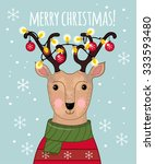 Cartoon Deer With Awesome...