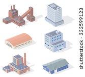 isometric industrial buildings | Shutterstock . vector #333599123