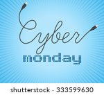 digital promo text on a blue... | Shutterstock .eps vector #333599630