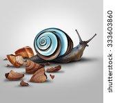 improvement concept as a snail... | Shutterstock . vector #333603860