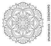 black mandala geometric round... | Shutterstock .eps vector #333604490